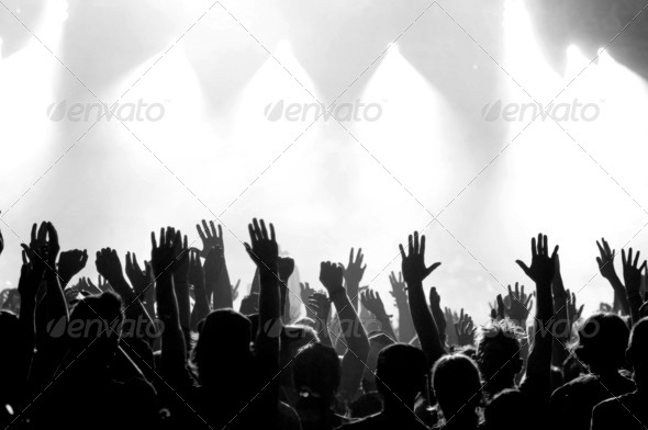 Concert Crowd - Stock Photo - Images