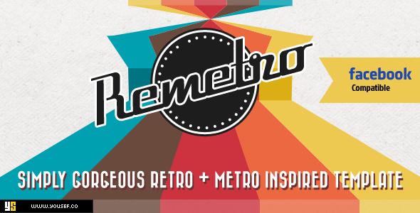 ThemeForest Remetro Single Page Portfolio 3484462