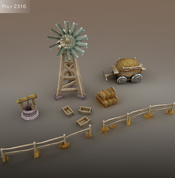 Farm Environment Pack - 3DOcean Item for Sale