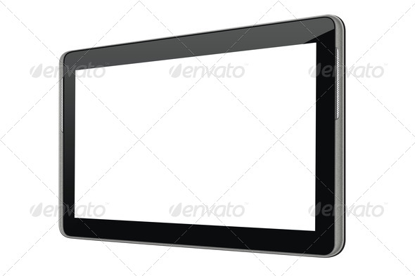 Blank tablet computer - Stock Photo - Images
