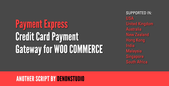 CodeCanyon PaymentExpress Credit Card Gateway for WooCommerce 1508432