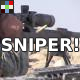 Sniper Rifle Shot and Reloading