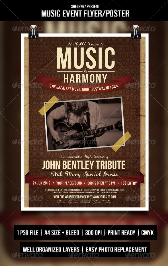 GraphicRiver Music Event Flyer Poster 3462037