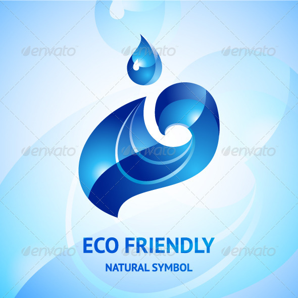 GraphicRiver Water Natural Blue Symbol 3488362
