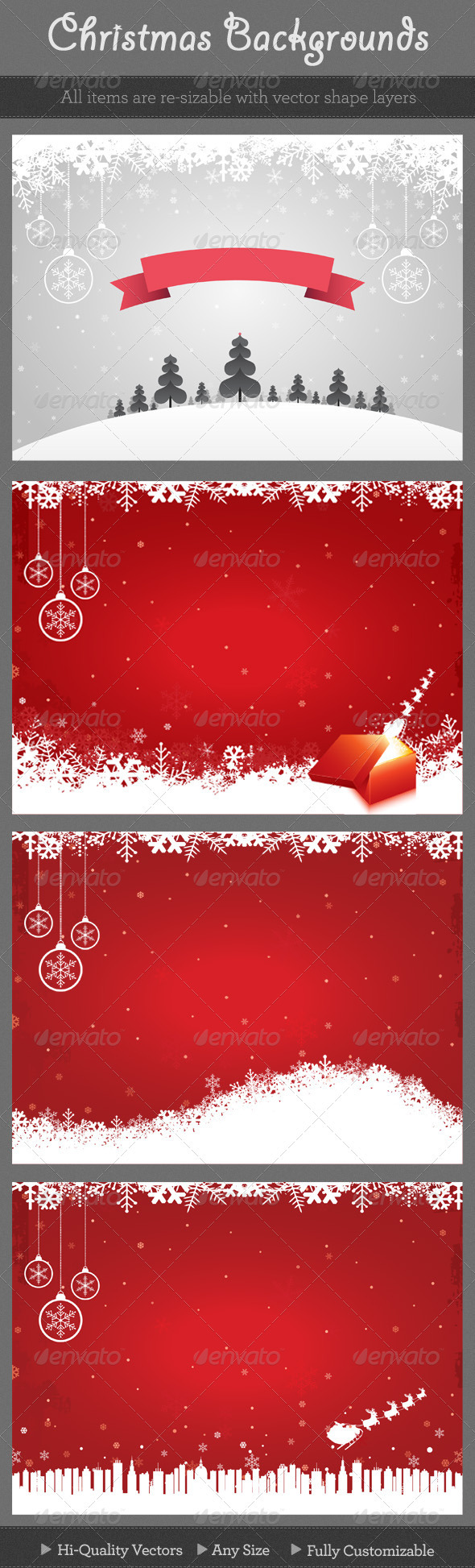 GraphicRiver Christmas Backgrounds 137055
