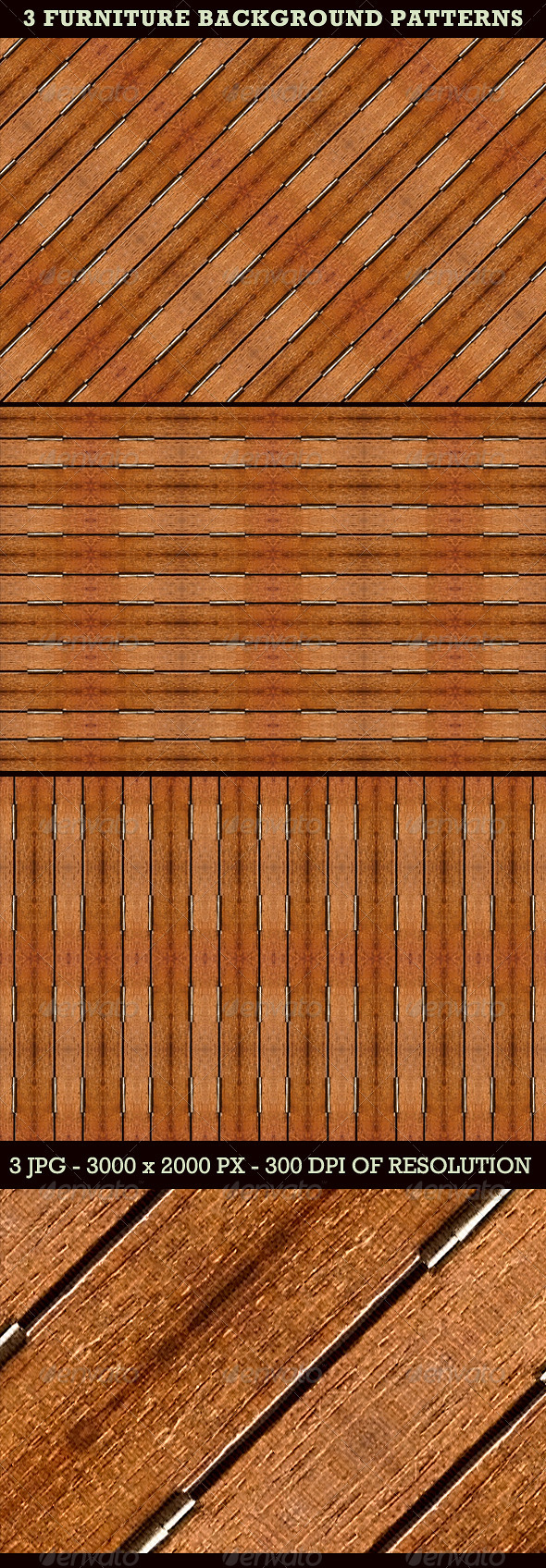 3 Furniture Background Patterns - Miscellaneous Backgrounds