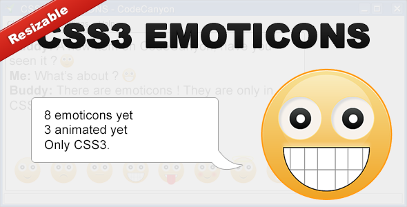 Pure CSS3 Emoticons - CodeCanyon Item for Sale