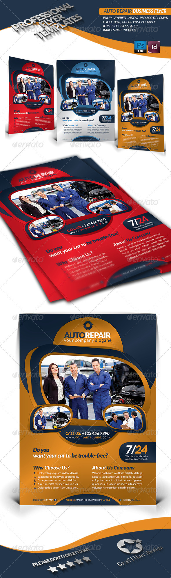GraphicRiver Auto Repair Business Flyer 3489223