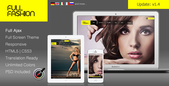 ThemeForest Full Fashion an Ajax Fullscreen WP Theme 3208041