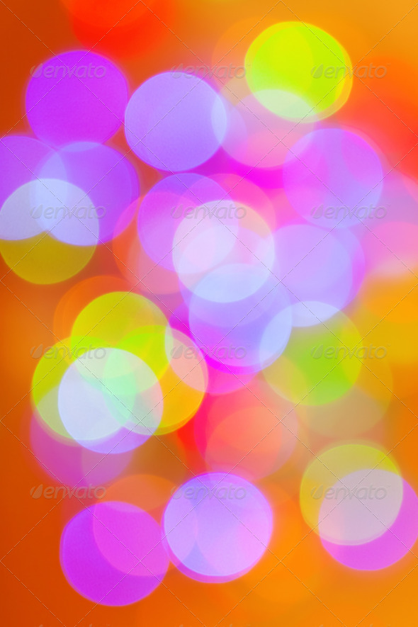 Christmas background, bokeh effect - Stock Photo - Images