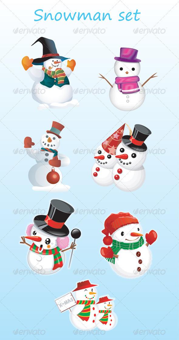 GraphicRiver Snowman 3490792