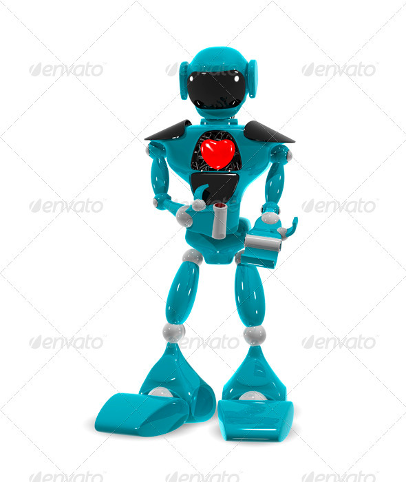GraphicRiver Robot with a heart 3491686