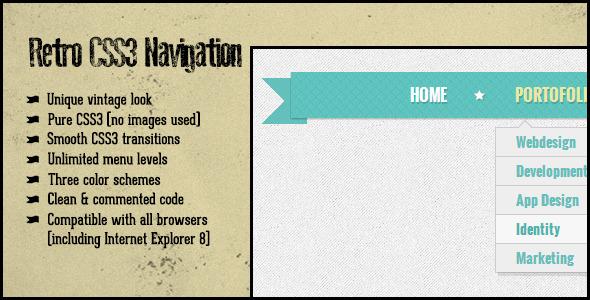 CodeCanyon Retro CSS3 Navigation 3495066