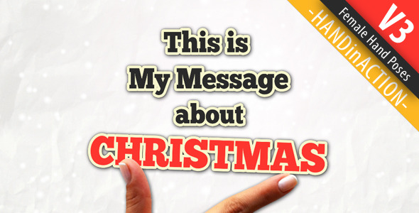 VideoHive Hand in Action 3 Christmas New Year 3495101
