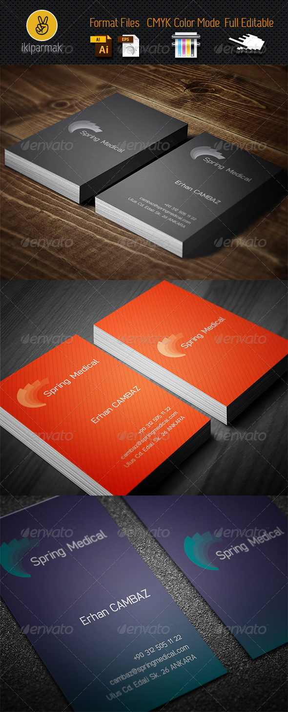 GraphicRiver Medical Bussines Card 3495296