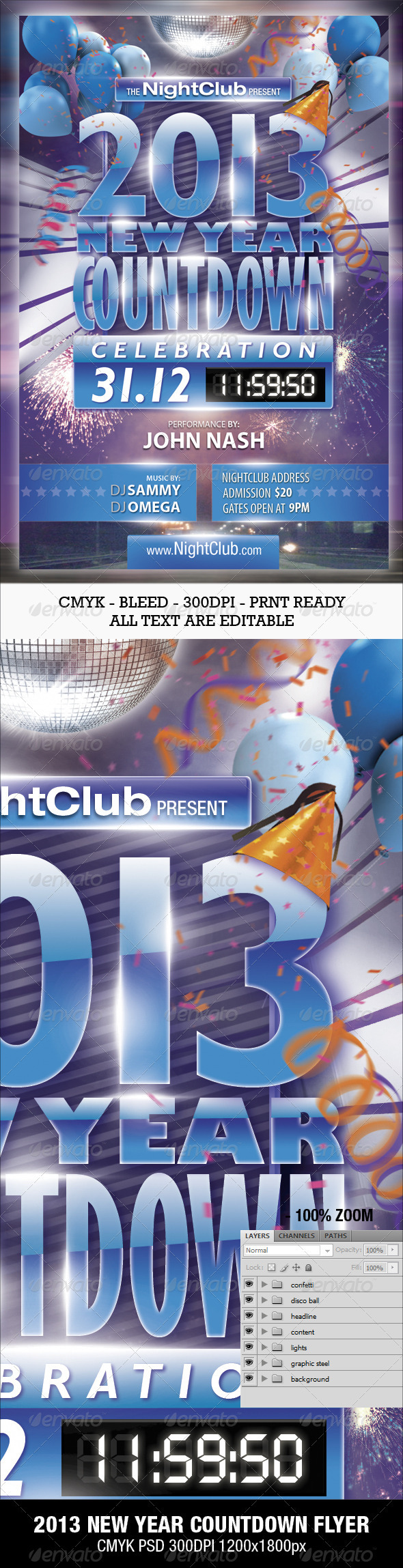 GraphicRiver 2013 New Year Countdown Party Flyer 3466258