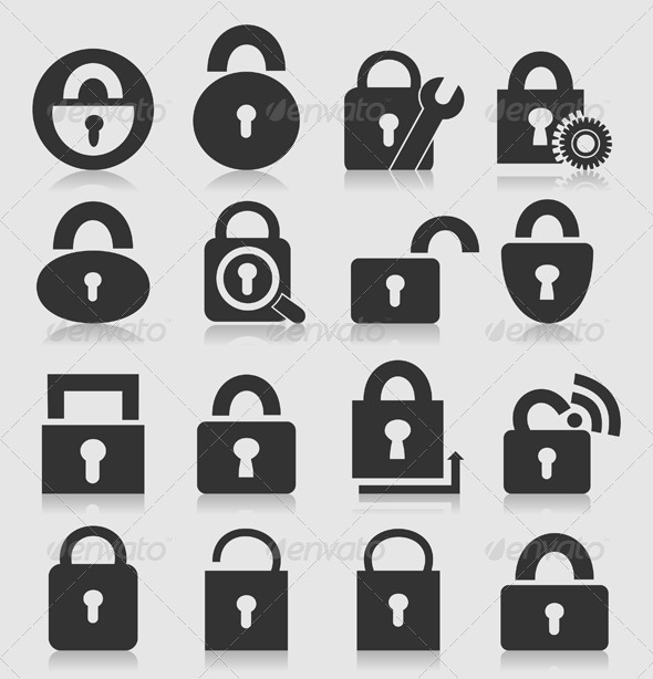 GraphicRiver Locks Icon Set 3497136