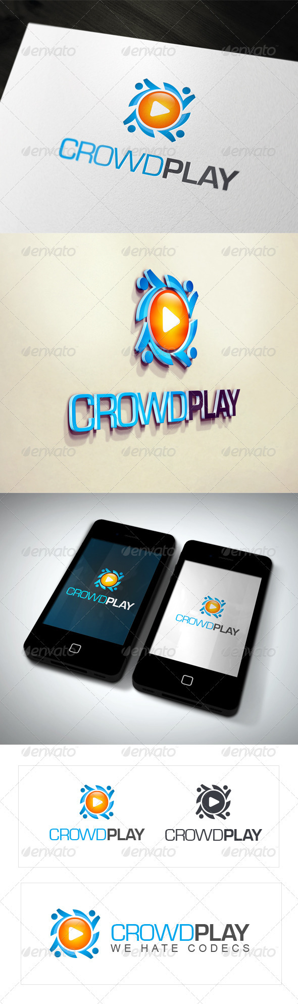 GraphicRiver CrowdPlay Logo Templates 3497145