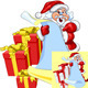 Vector Santa Claus with a scroll and Christmas - GraphicRiver Item for Sale