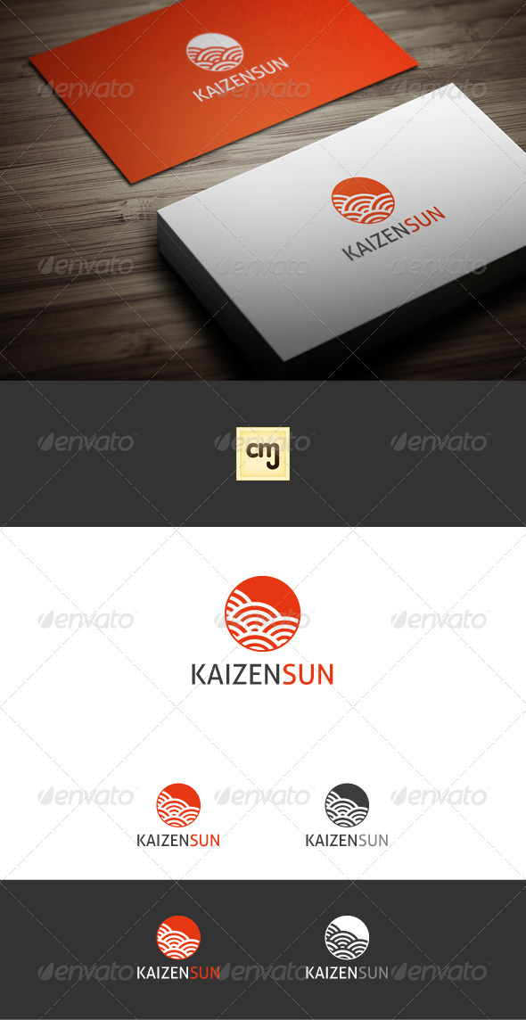 Kaizen Sun Logo Template - Nature Logo Templates
