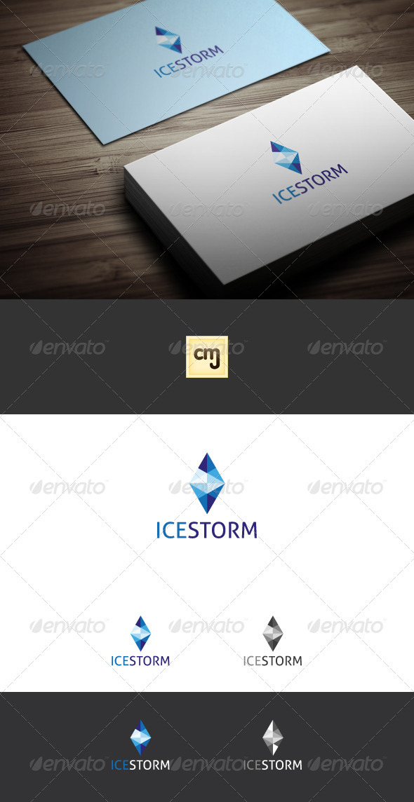 GraphicRiver Ice Storm Logo Template 3497527