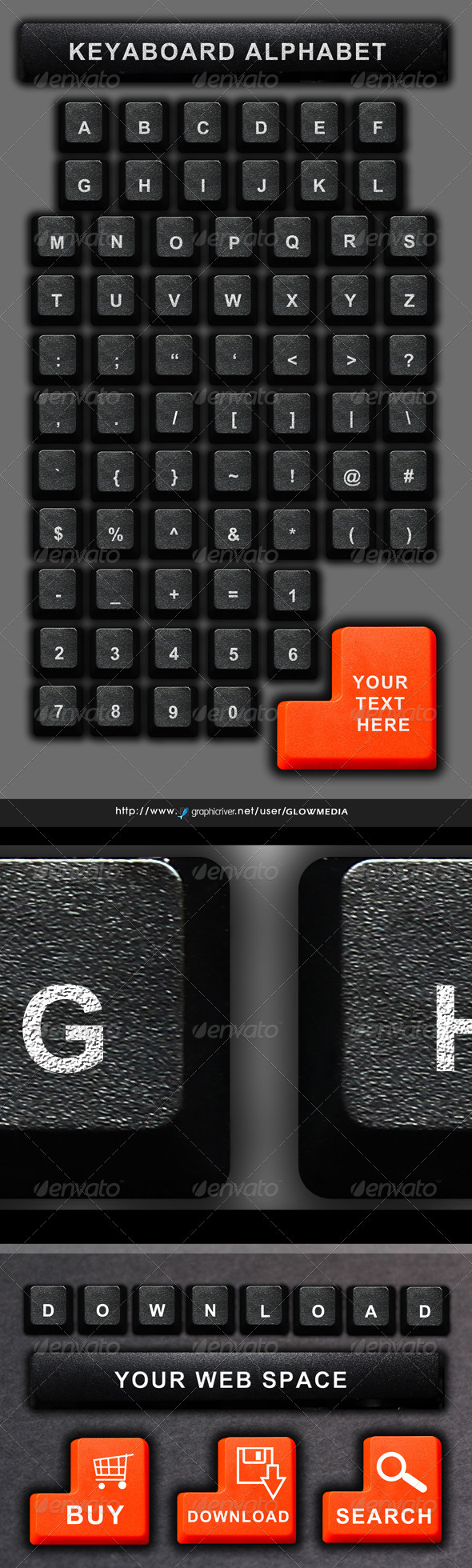 GraphicRiver Computer Keyboard Alphabet 3451504