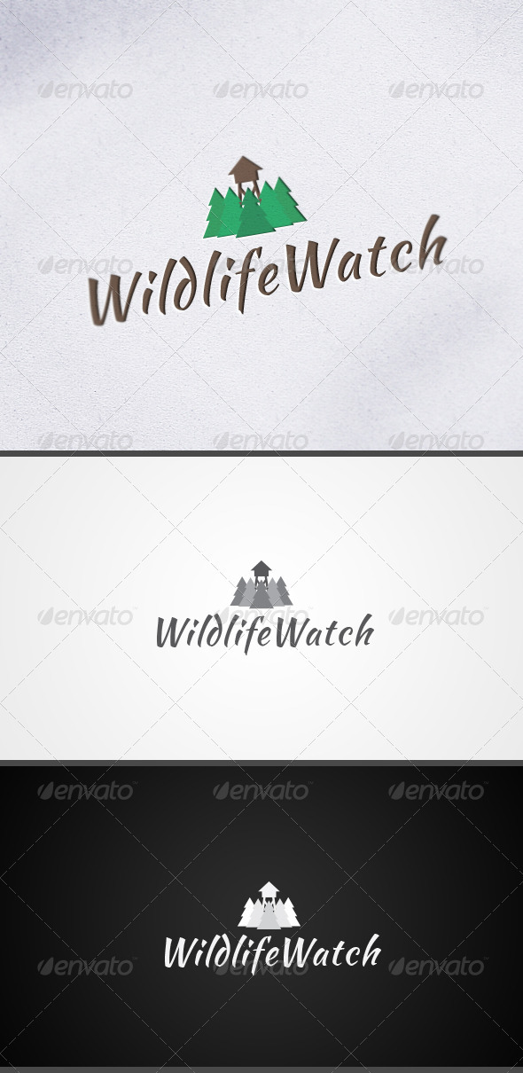 GraphicRiver WildlifeWatch Nature Logo 3466149