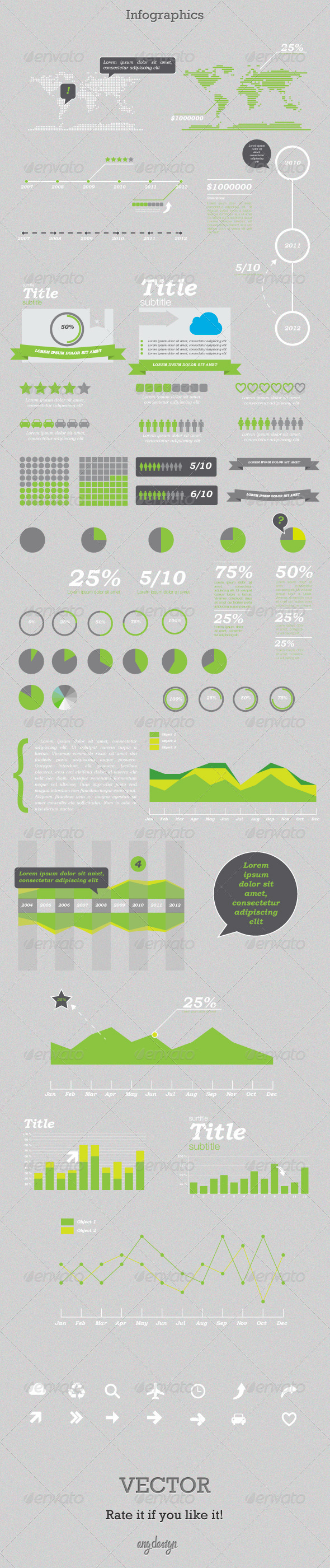 Greeny - Infographics Kit - Miscellaneous Vectors