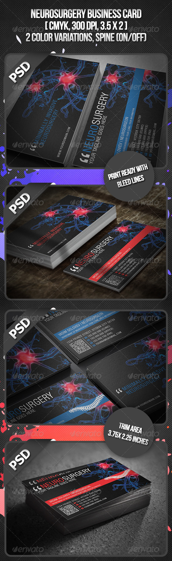 Neurosurgery Business Card - Industry Specific Business Cards