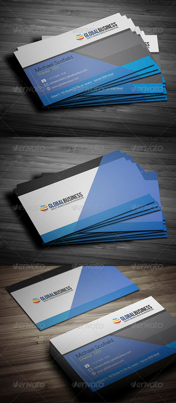 GraphicRiver Corporate Business Card 20 3498823