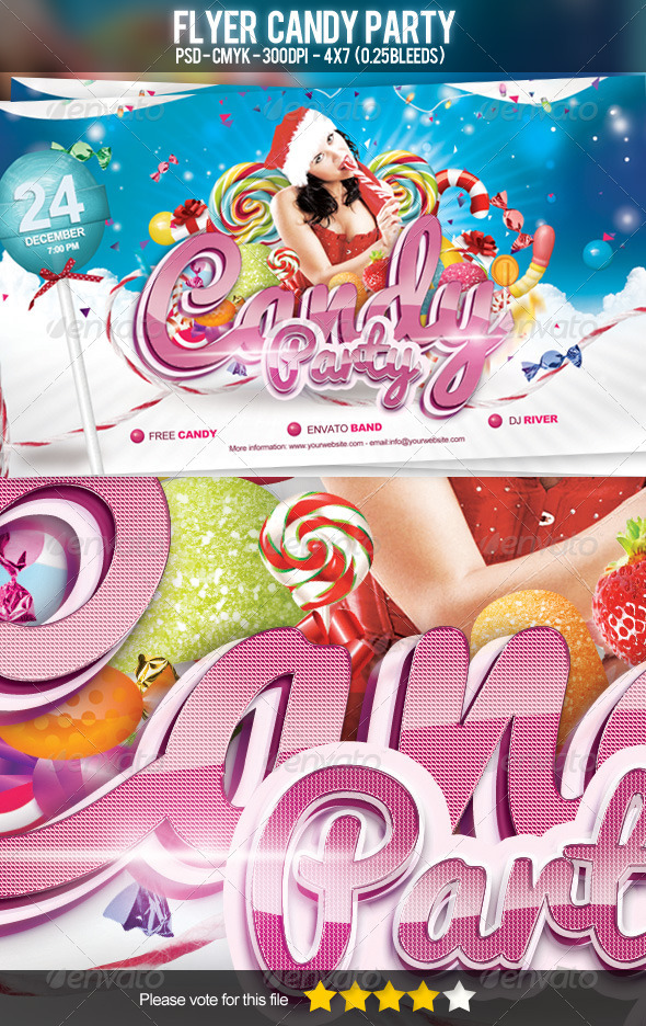 GraphicRiver Flyer Candy Party 3500900