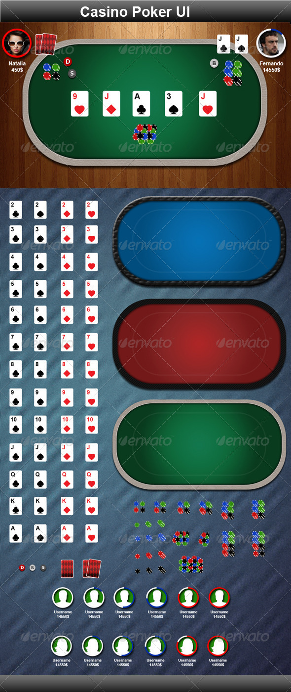 Casino Poker Game Elements - GraphicRiver Item for Sale