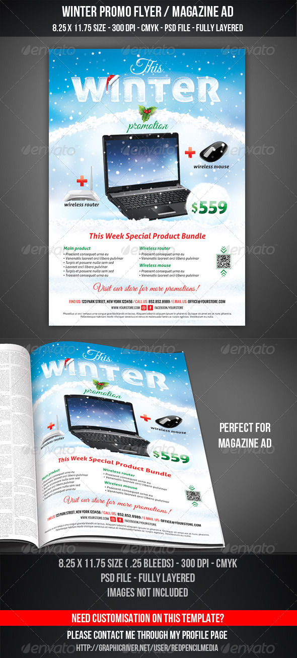 GraphicRiver Winter Promotional Flyer Magazine AD 3501735