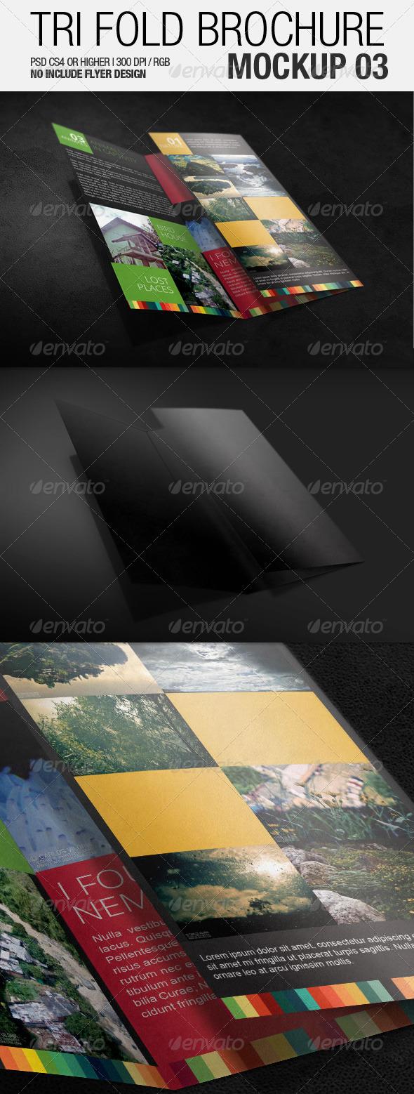 GraphicRiver Tri Fold Brochure Mockup 03 3502069