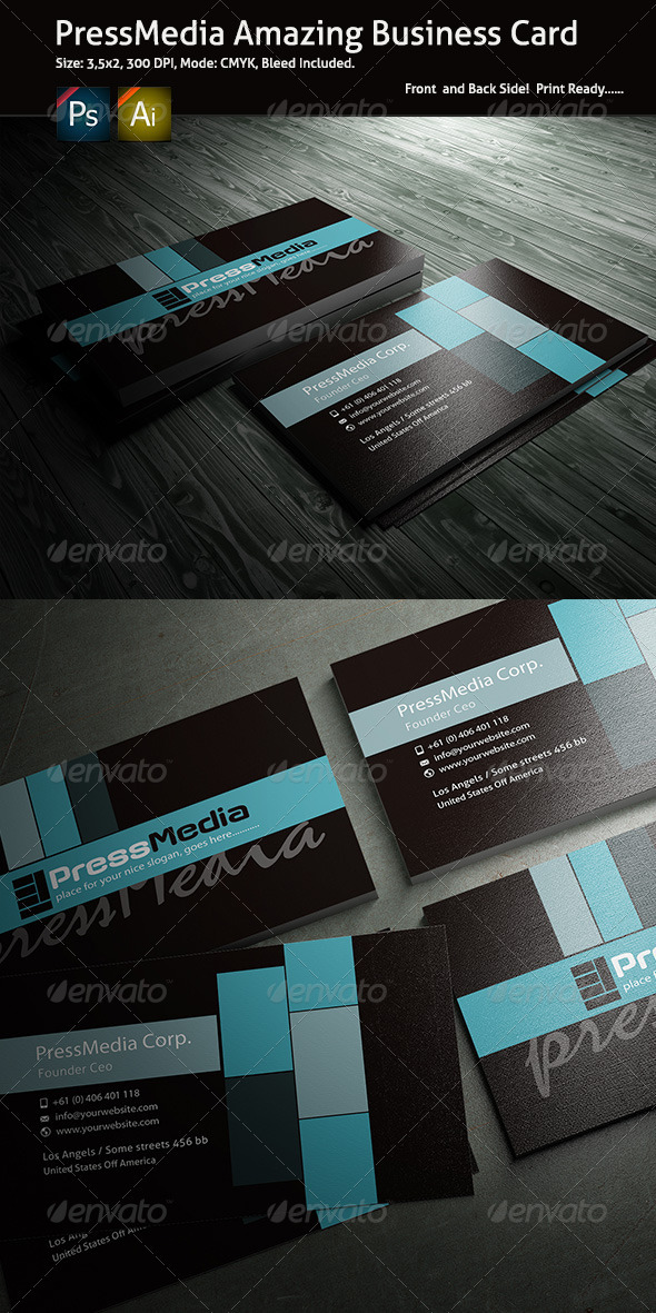 PressMedia Business Card - Corporate Business Cards