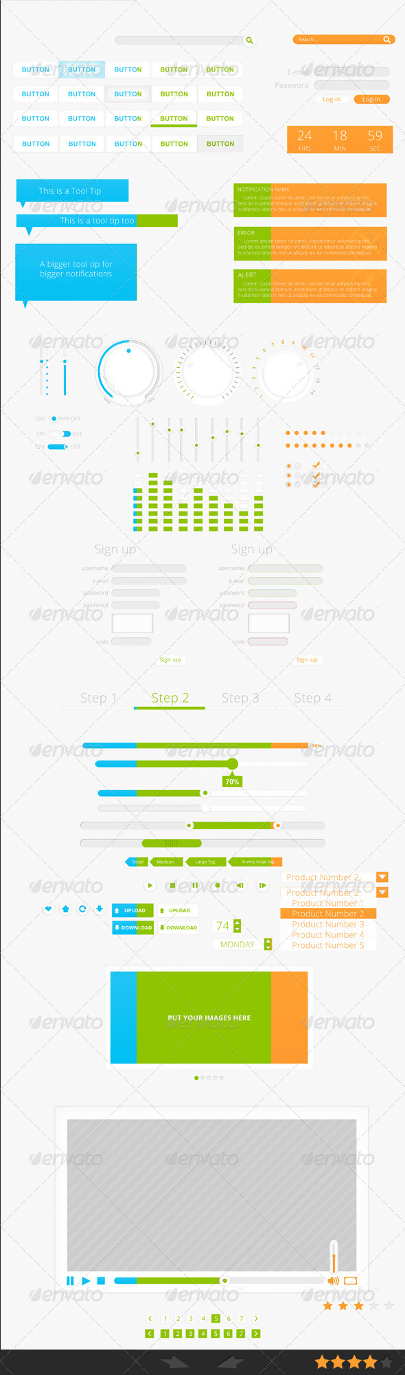 GraphicRiver Clean User Interfaces 3460433