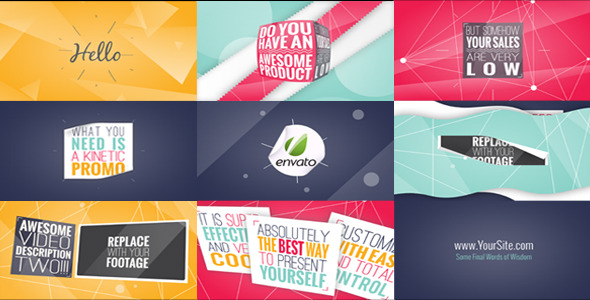 VideoHive Kinetic Typography Promo 3460502