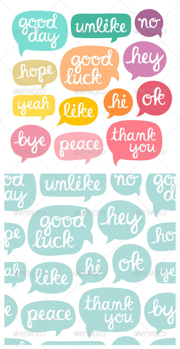 GraphicRiver Hand Drawn Phrases 3487435