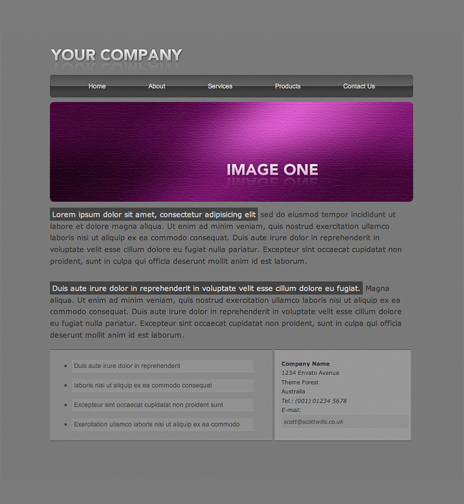Flash Header Template 01