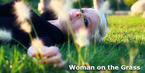 Woman on the Grass VideoHive Stock Footage  People 3503564