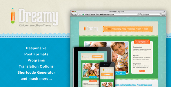 Dreamy - Responsive Children WordPress Theme