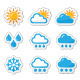 Weather Icons Set as Labels - GraphicRiver Item for Sale