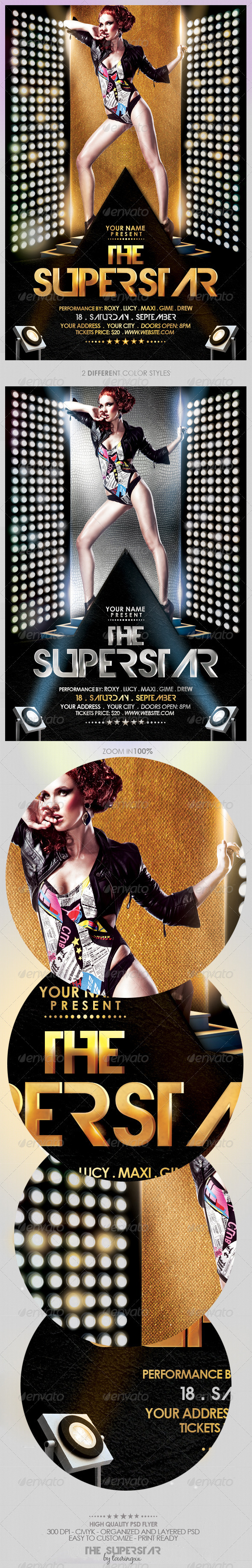 The Superstar Flyer Template - Events Flyers