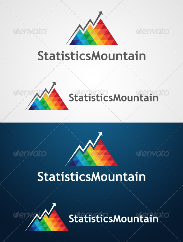 GraphicRiver StatisticsMountain Logo Design 3506282