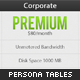Persona Pricing Web Hosting Tables - GraphicRiver Item for Sale