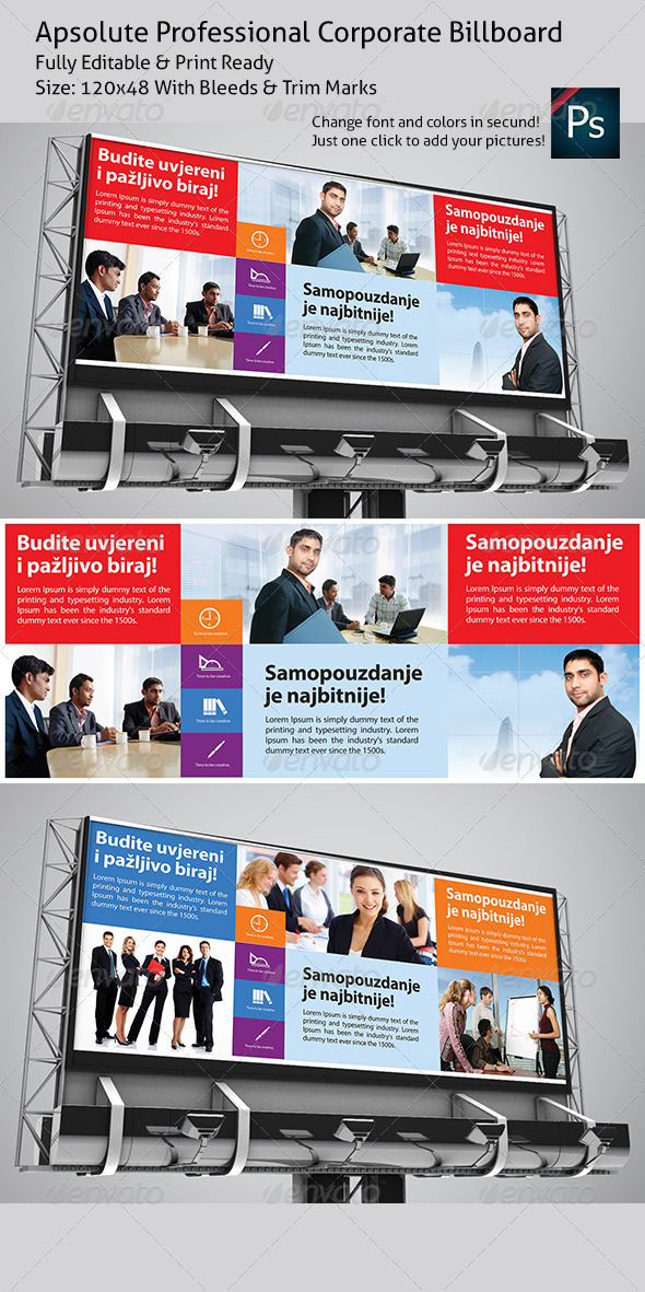 Apsolute Professional Corporate Billboard - Signage Print Templates