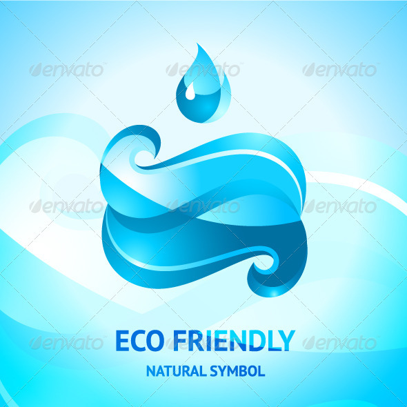 GraphicRiver Blue Water Symbol 3508416