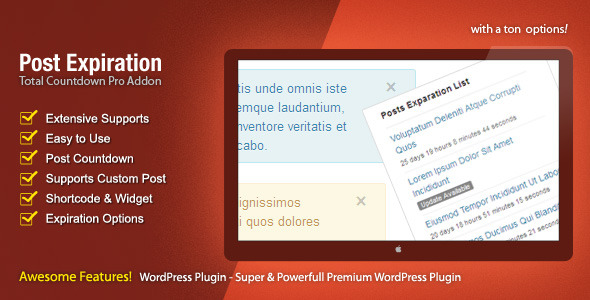 CodeCanyon Post Expiration The Countdown Pro Addon 3509836