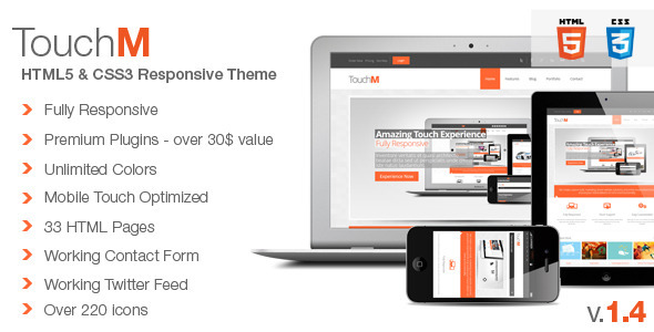 ThemeForest TouchM Premium HTML5 Multipurpose Responsive 3362630