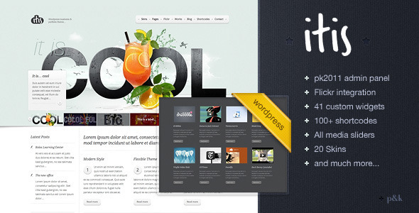 WordPress Itis Theme - Corporate WordPress
